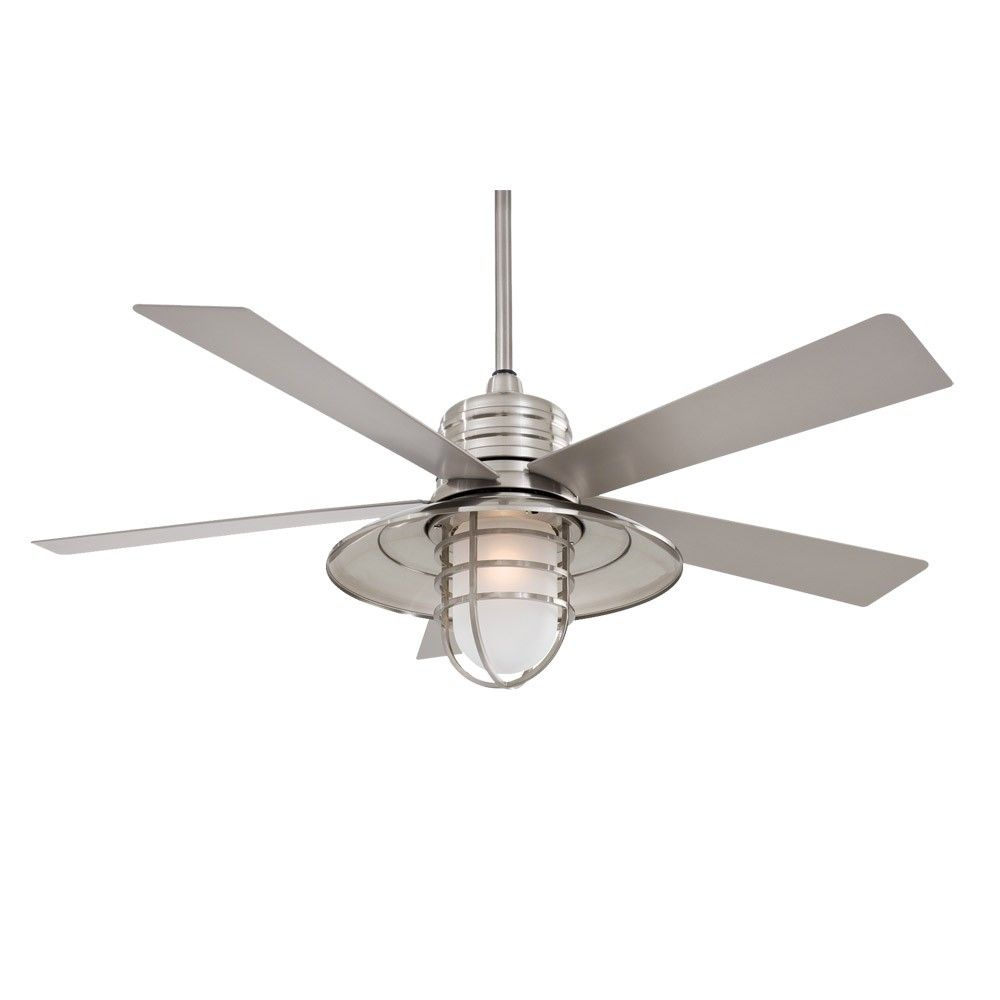 ceiling fan outdoor. 54 minka aire rainman ceiling fan outdoor wet rated f582 bnw