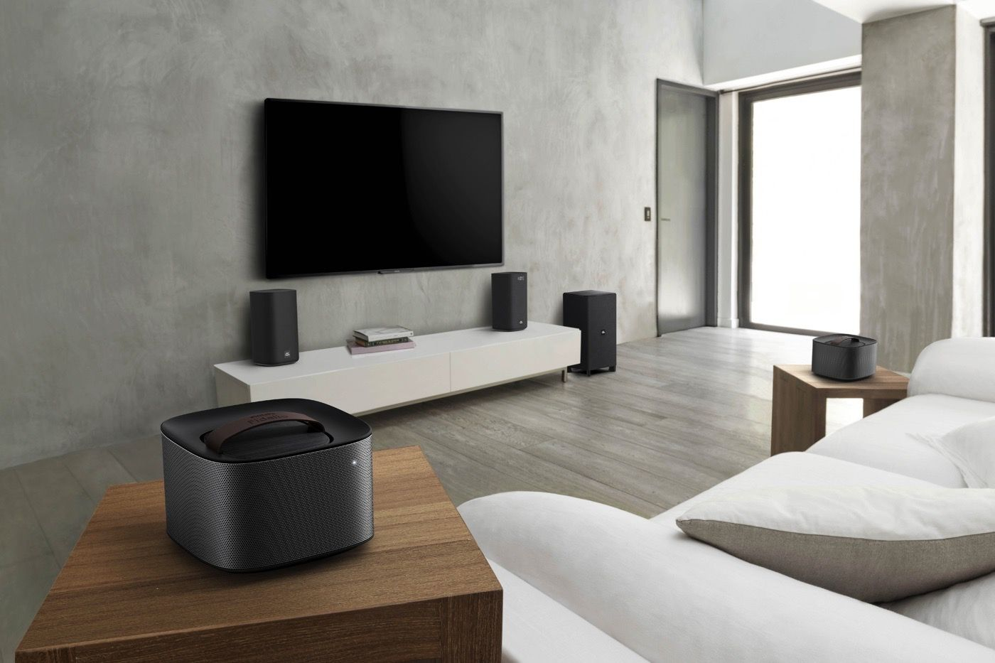 Philips Living Room Audio Gear Includes Detachable Speakers Huis