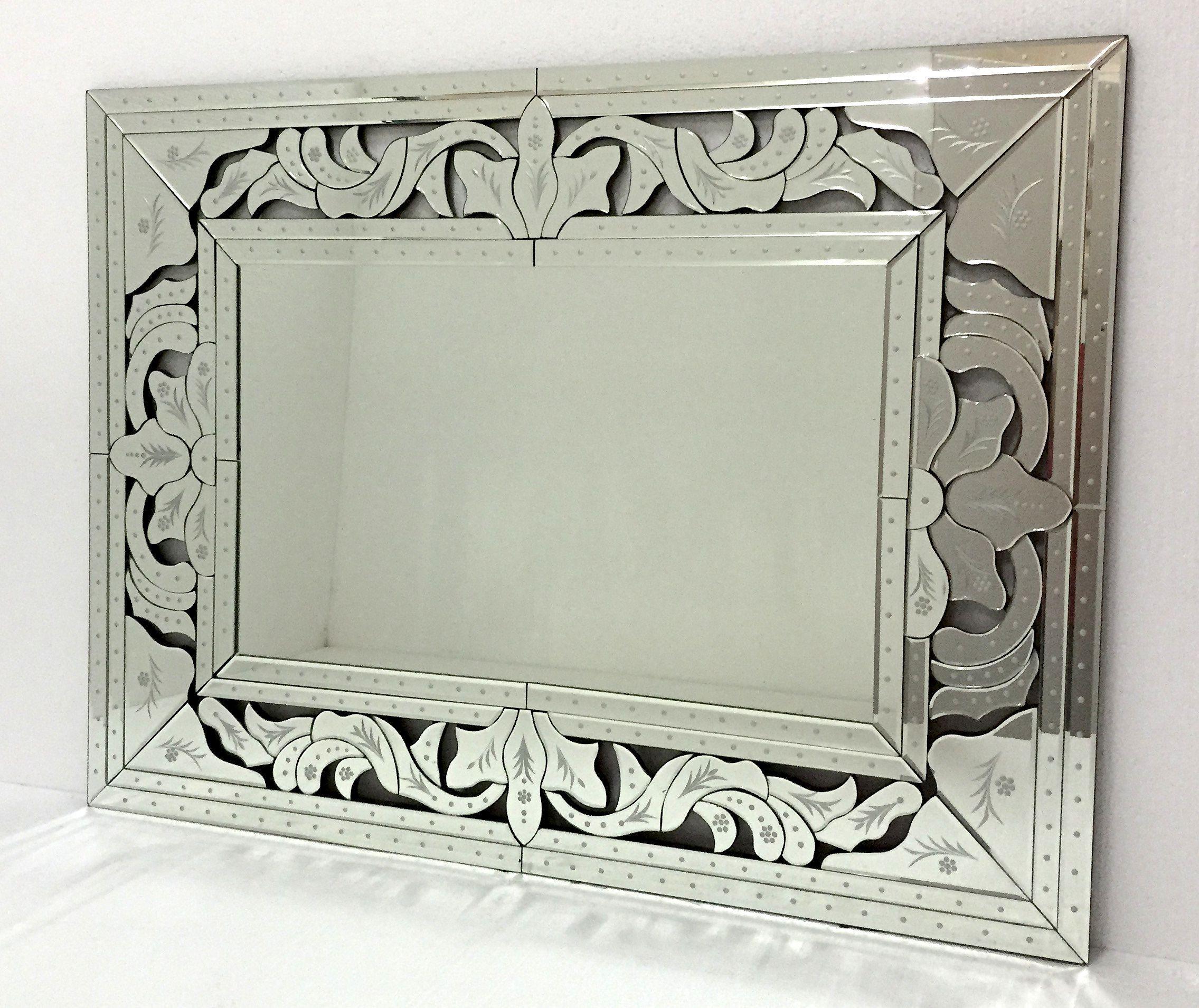 Espejo veneciano rectangular en vertical o horizontal for Espejo horizontal salon