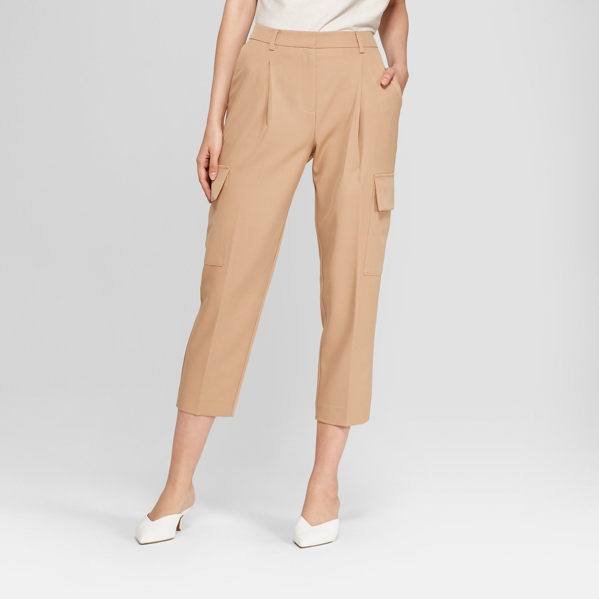 de010d555c Women's Straight Leg Cropped Cargo Pants - Prologue Khaki (Green) 14 ...