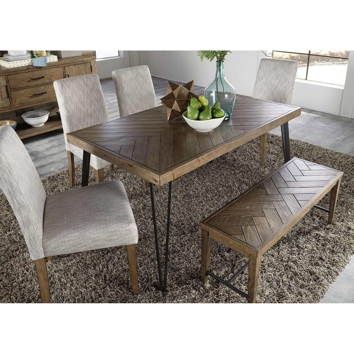 Marvelous Horizons Rustic Caramel With Sawmark Distressing Dinette Gmtry Best Dining Table And Chair Ideas Images Gmtryco