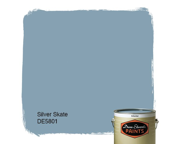 Dunn Edwards Paints Blue Paint Color Silver Skate De5801 Click For A Free