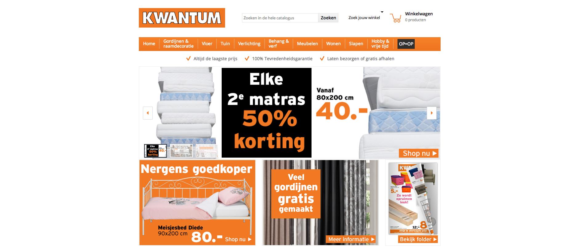 KWANTUM - Deze site verkoopt ook veel meubelen voor een lage prijs.