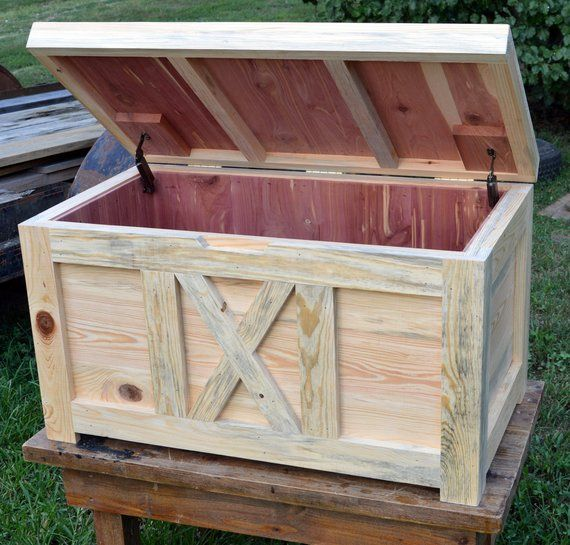 Homestead Storage Hope Chest Natural Semi Rough Cedar Chest Blanket Chest Ahsap Isciligi Sandik Dekor