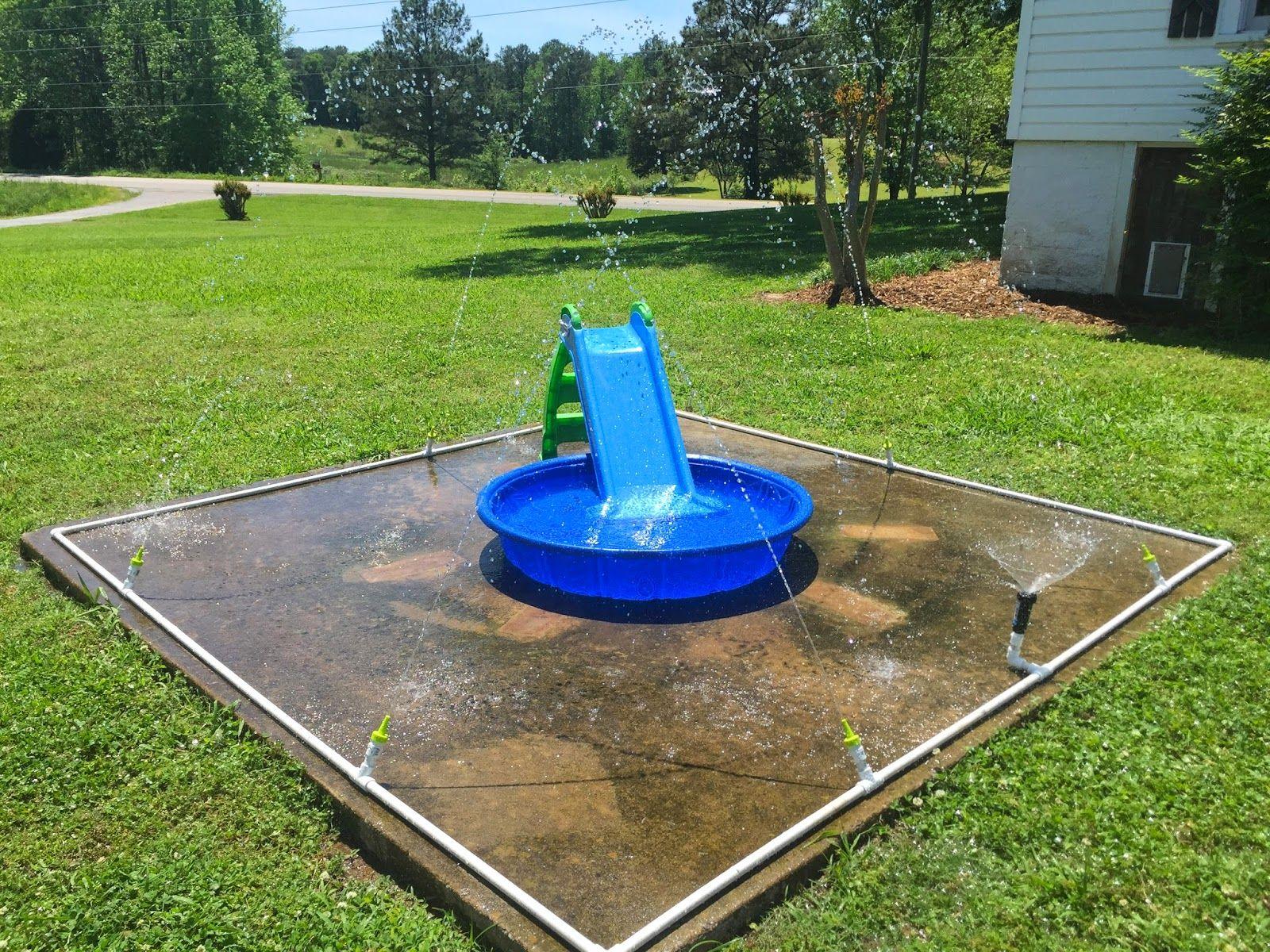 Splash Pad How To Splash Pad Diy Splash Pad Backyard Splash Pad