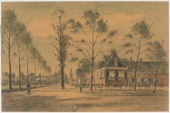 Pieter de Regt (1866-1960) - Rijswerk → 'begin van de Herenstraat met Kuys Witsenburg'