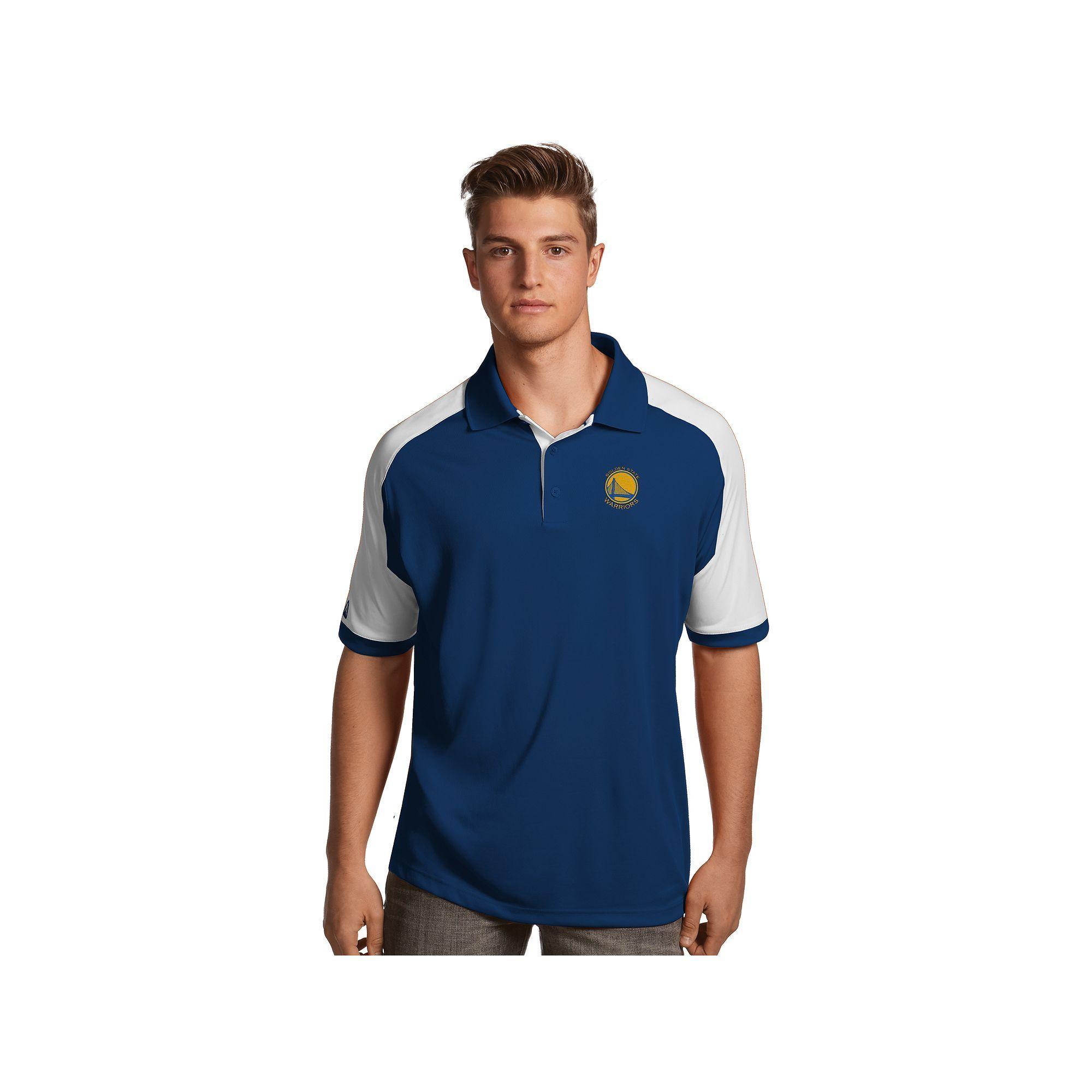 Men's Antigua Golden State Warriors Century Polo, Size: Medium, Blue