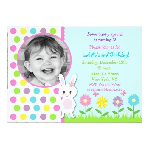 easter bunny photo birthday party invitations easter egg hunt