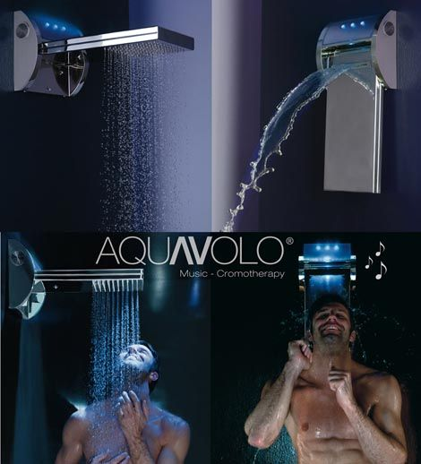 Mp3 Shower Head By Bossini Ipod With Speakers Light