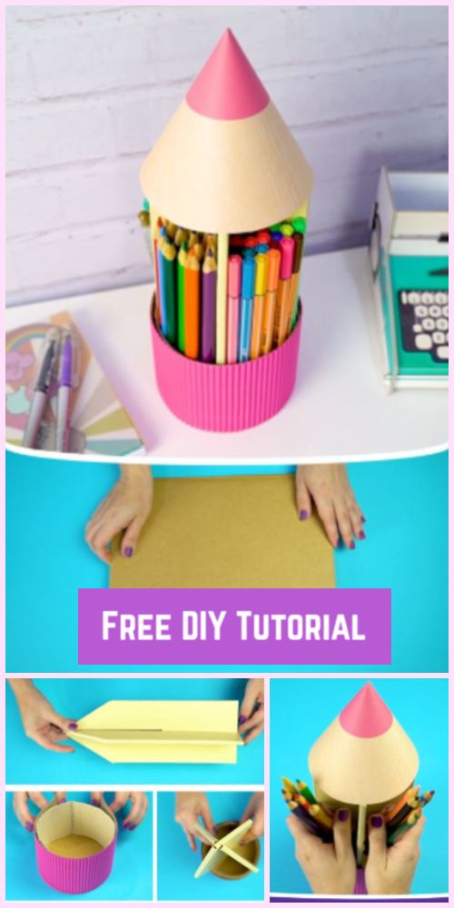 3 Nifty Ways to Recycle Cardboard into Desk Organizer-Video Tutorial