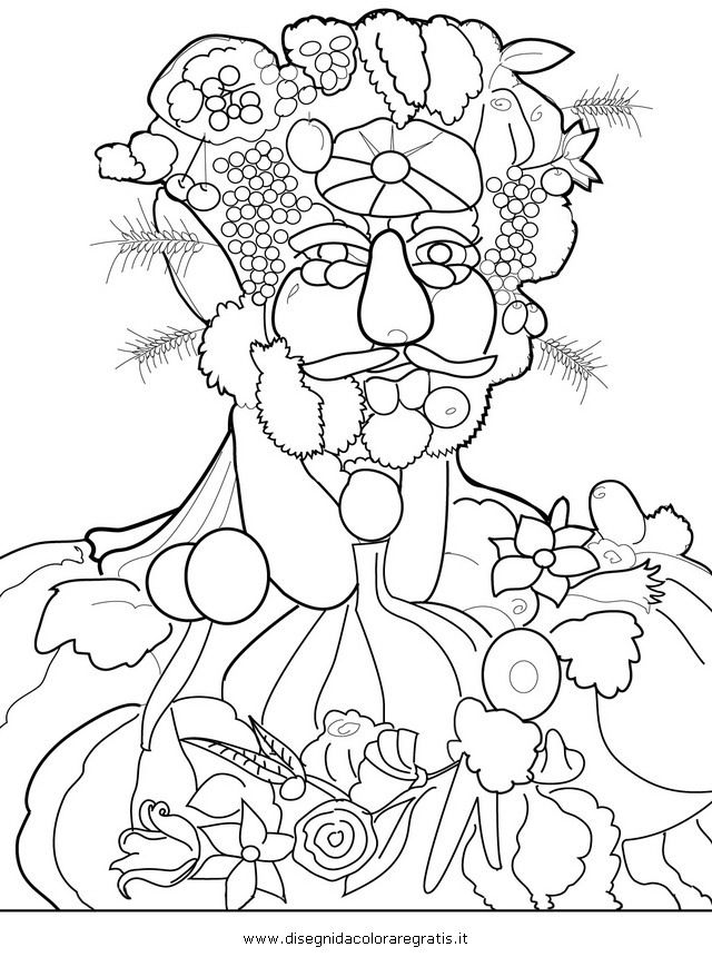 Giuseppe Arcimboldo Coloring Page For The Home Art Lessons