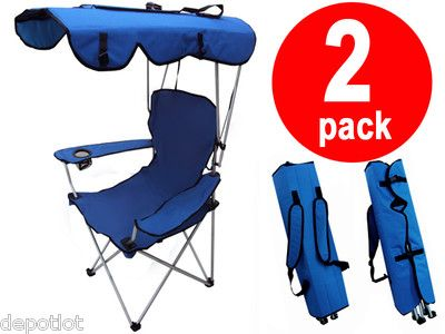 Superior $64 2 Pack FOLDING CANOPY CHAIRS   BEACH / CAMPI CHAIR / PORTABLE OUTDOOR  CHAIR