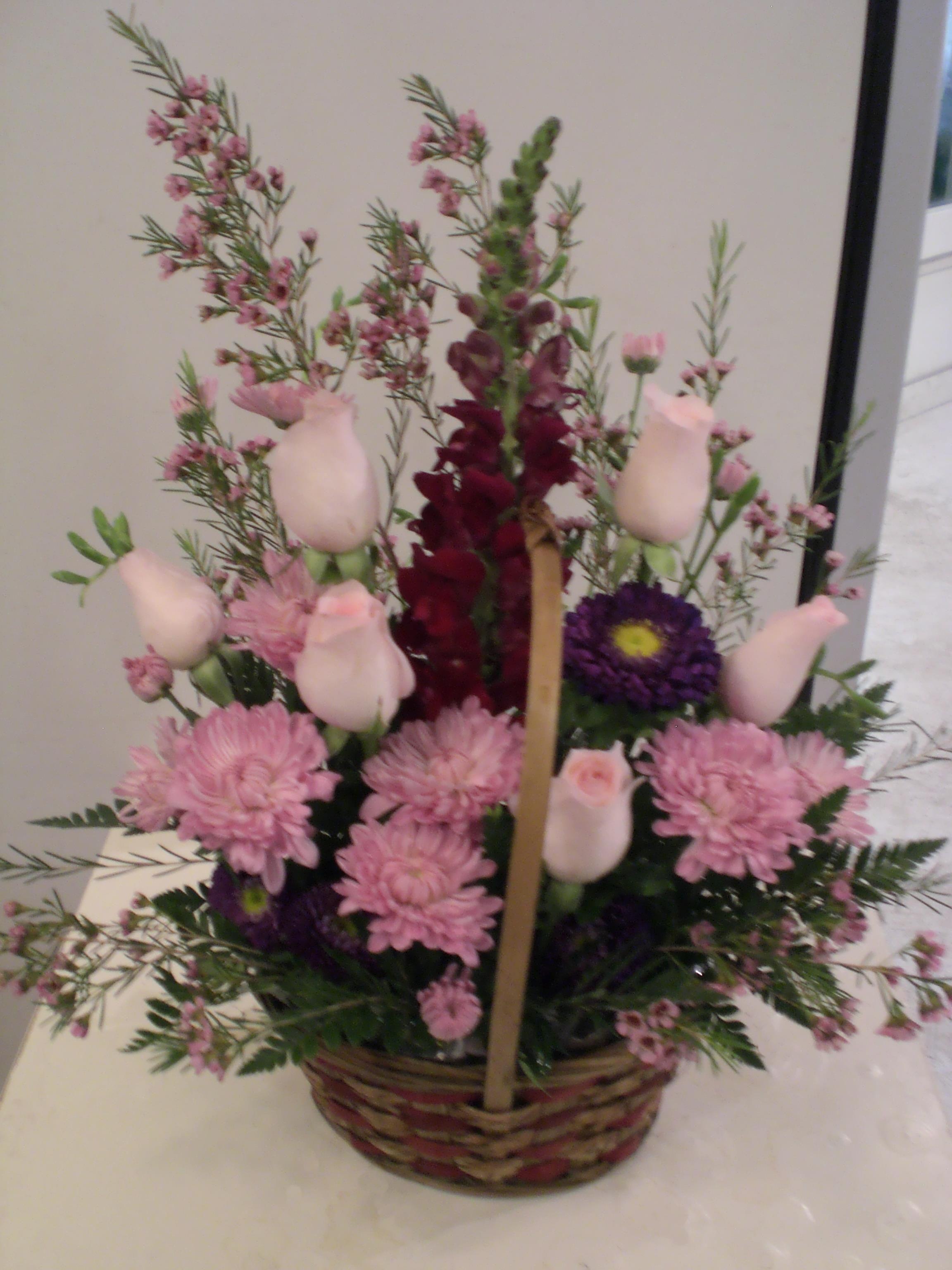 Httpunny Beautiful Flowers Basket Kvtinov Aranm