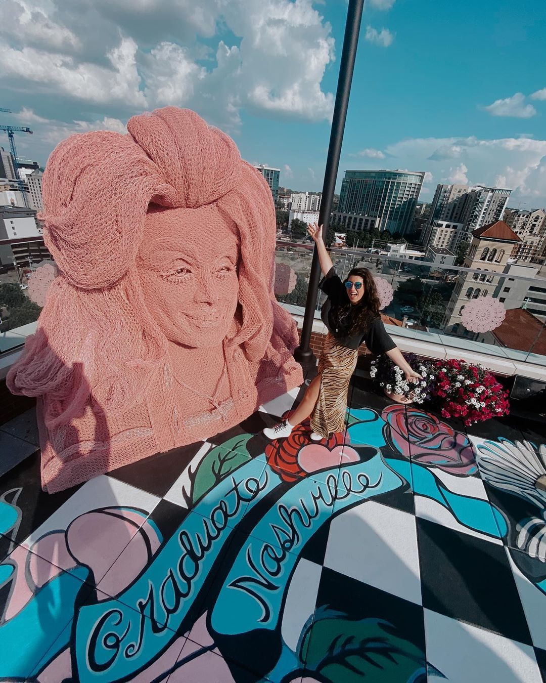 The Graduate Nashville Hotel Just Opened Its Dolly Parton Inspired Rooftop Bar White Limozeen Nashville Hotels Nashville Travel Usa