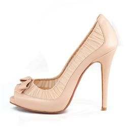 49b7a36a5627 All You Need is Love And Christian Louboutin Angelique 120mm Peep Toe Pumps  Nude EPL!