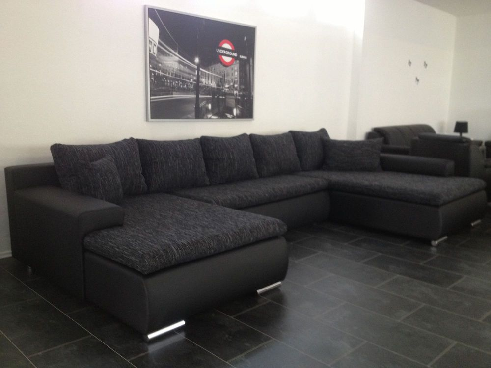 u 380cm schlafcouch wohnlandschaft sofa couch bett polsterm bel sofa. Black Bedroom Furniture Sets. Home Design Ideas