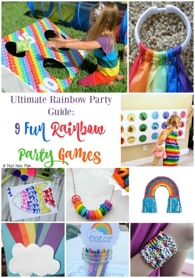 Ultimate Rainbow Party Theme Guide 9 Fun Game Ideas Activities These Games Are Perfect For A DIY Or Buy Depending