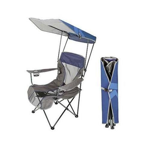Premium Canopy Chair (Navy) is a portable folding chair that turns the standard quad-style c& chair into a personal oasis with patented Kelsyus features ...  sc 1 st  Pinterest & Premium Canopy Chair Navy | Products | Pinterest | Canopy Camp ...