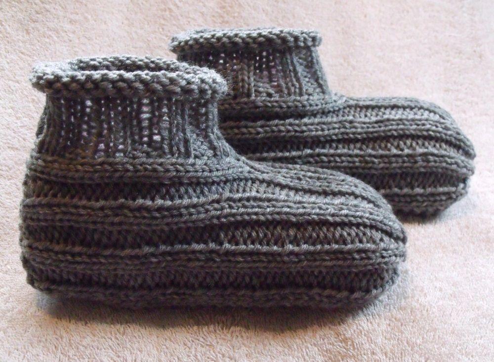 Knitted Slippers Free Pattern Knitting Pinterest Free Pattern