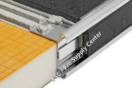 Schluter Rondec Ct Anodized Aluminum Double Rail Edging Profile