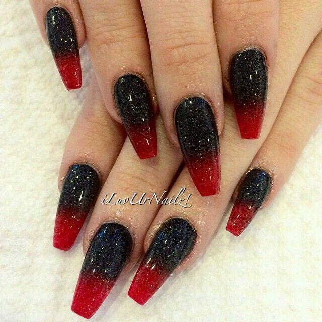 《Nail art 》☆☆☆ | Uñas de bruja, Uñas rojas, Uñas fluorescentes