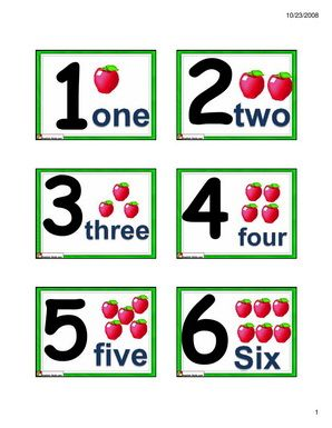 graphic relating to Printable Numbers 1 10 Flashcards titled English for Little ones,ESL Children Quantities Flashcards- 1 in direction of 10