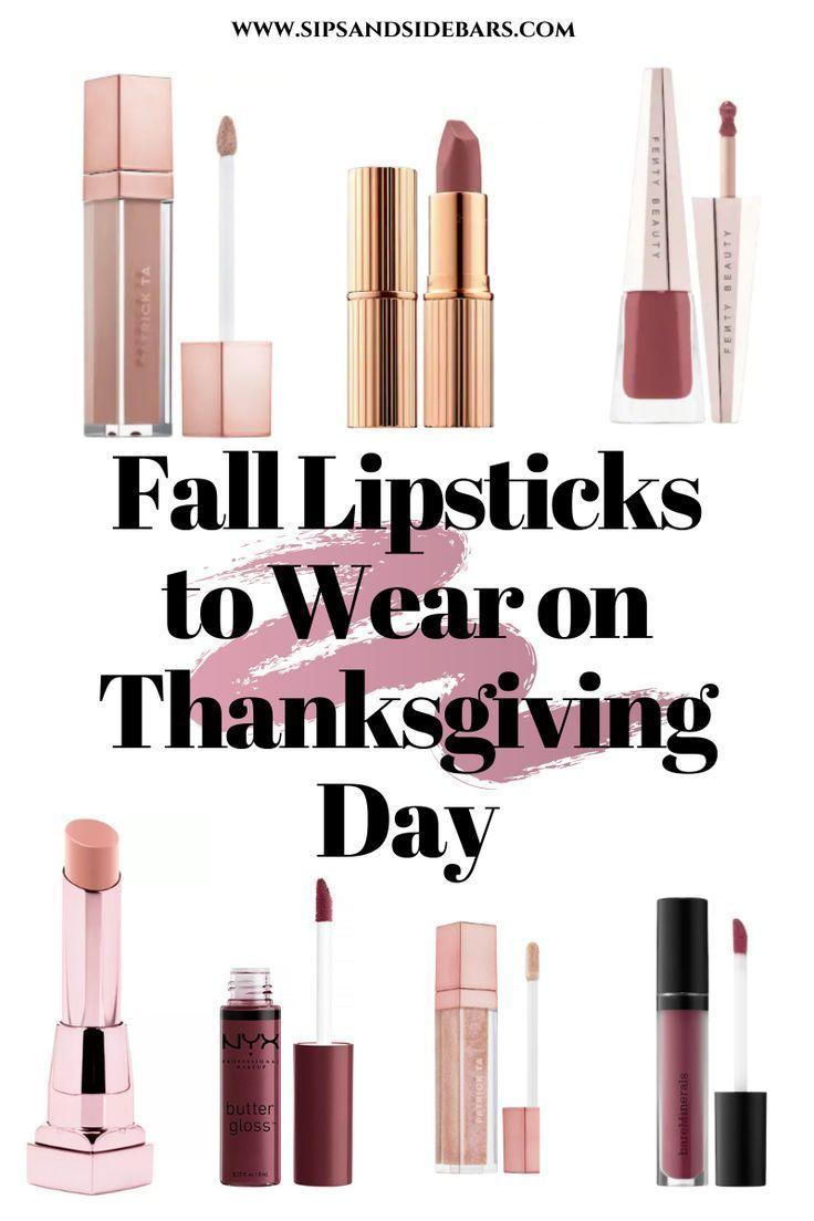 Fall Lipsticks to Wear on Thanksgiving Day-#lipsticks