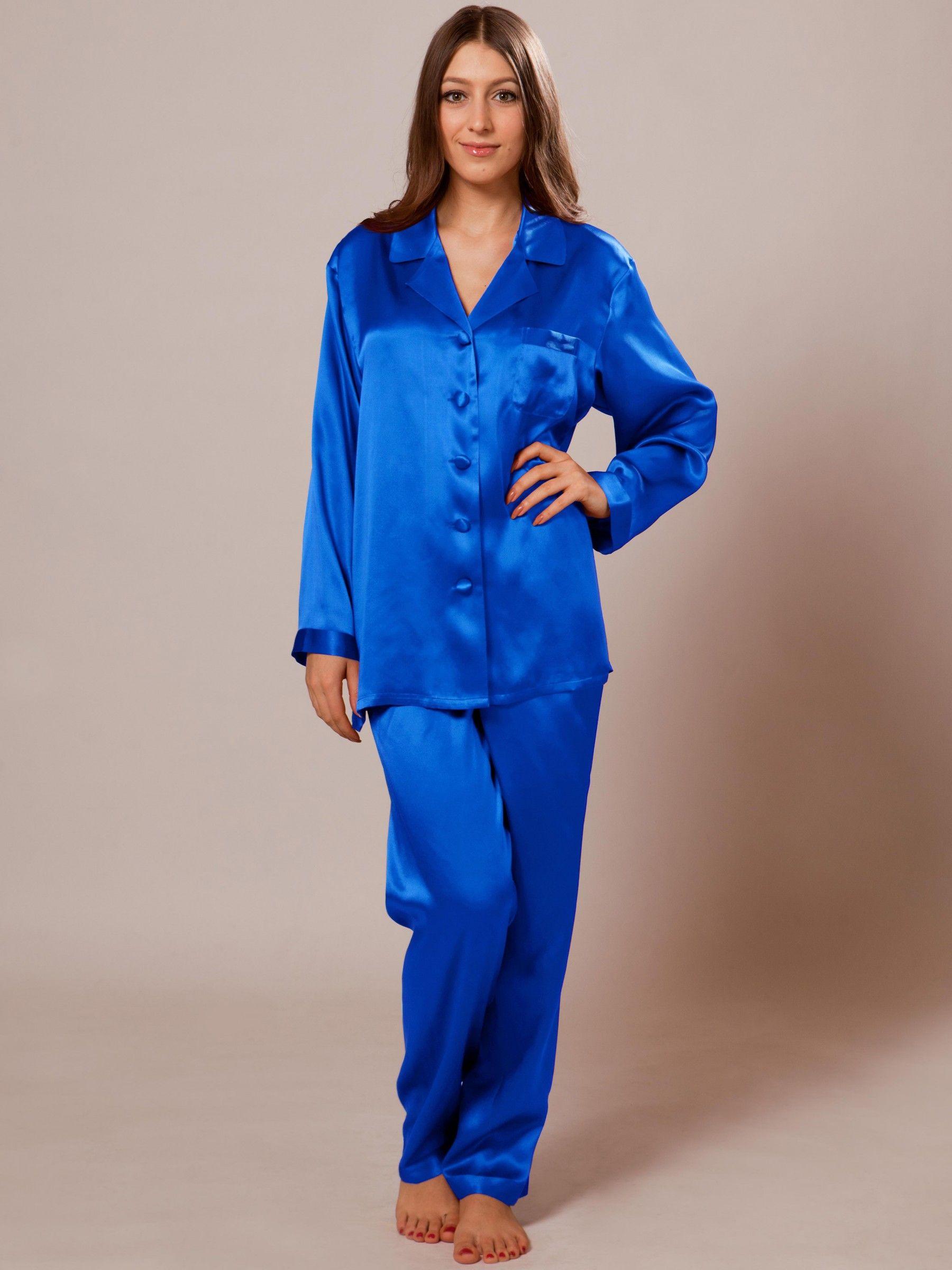 22 Momme Laced Silk Pajama Set - Sleepwear | Silk pajama