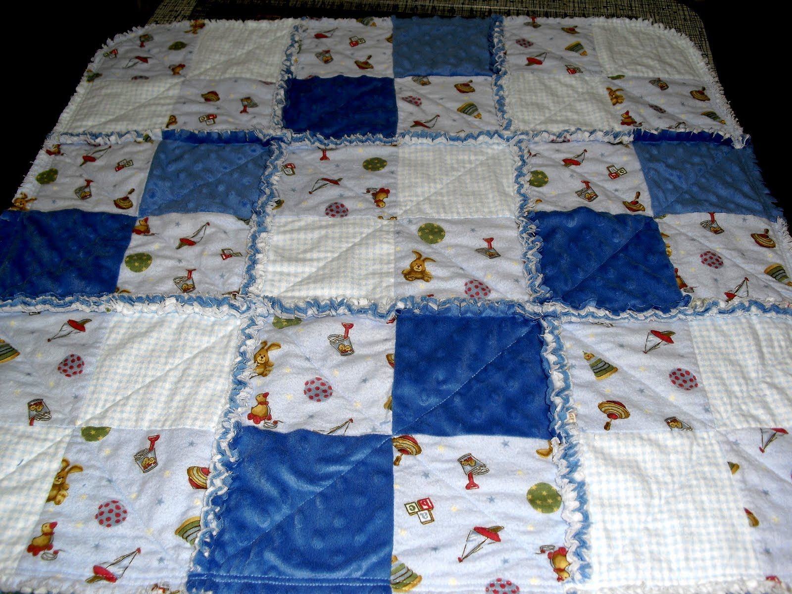 Up the Rainbow Creek: Super Quick Baby Rag Quilt | Things I've ... : baby rag quilts instructions - Adamdwight.com