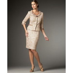 03977ca7ab30cf Women's Tahari Embellished Tweed Suit - Elie Tahari - Polyvore | My ...