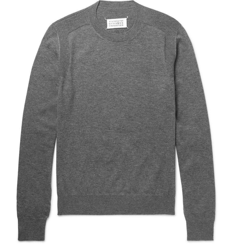 Maison Margiela - Mélange Cashmere Sweater | KNITWEAR-MEN ...