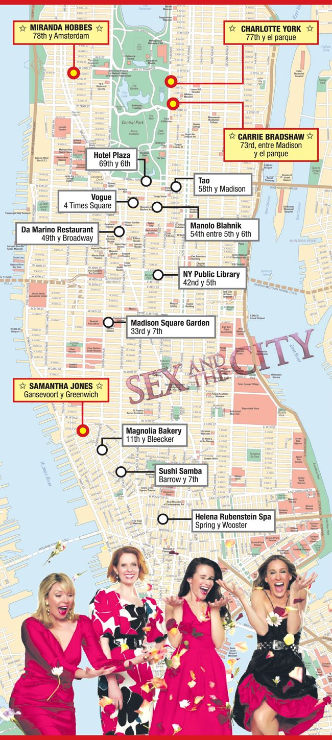 "Tours por Nueva York para ver lugares de ""Sex and the city"""