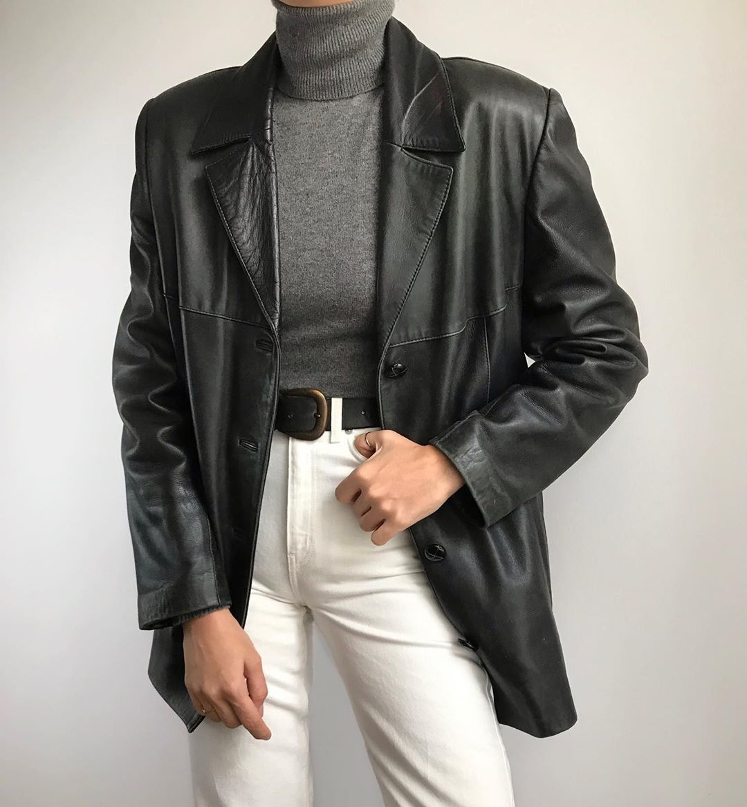 """girls of mars on Instagram: """"Vintage softest leather jacket/blazer. Will fit XS/L depending on styling. €140+shipping. Online now🖤SOLD"""""""