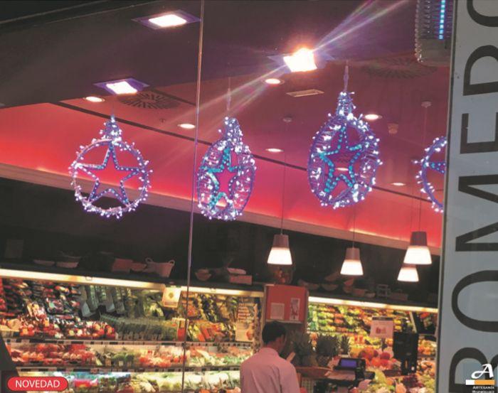 Bola estrella led decoración de interior #motivosnavideños #decoracionavidad #lucesled #decoracionled