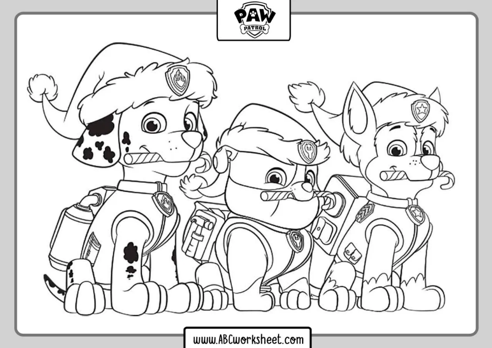 Paw Patrol Dogs Coloring Pages Taken