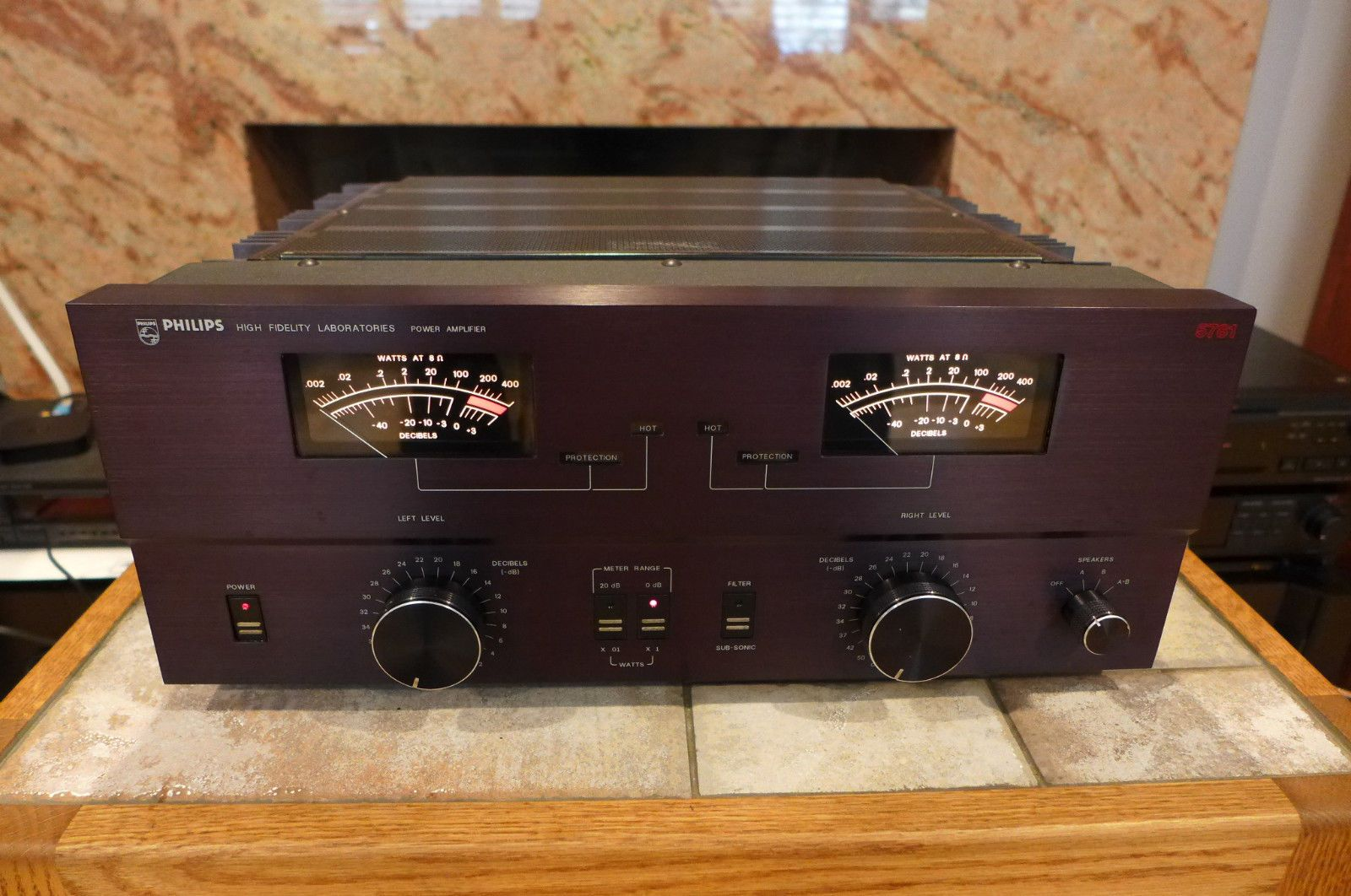 Rare Vintage Philips 5781 High Fidelity Lab Stereo Power Amplifier Mic Preamplifier Electronicslab Made In Usa Ebay