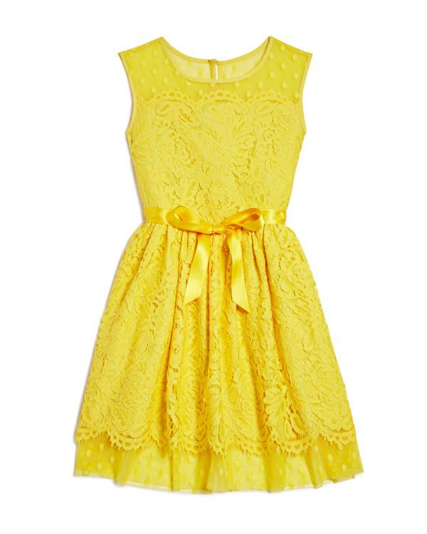 Blush by Us Angels Girls' Lace Overlay Dress - Sizes 7-16