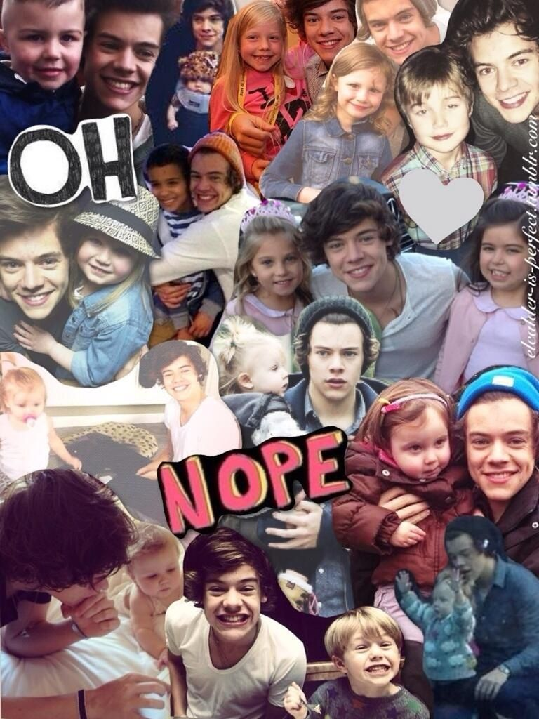 I Can T With This Combo Never Put Harry Styles With Kids You Kill Everyone I Love One Direction Harry Styles Harry Edward Styles