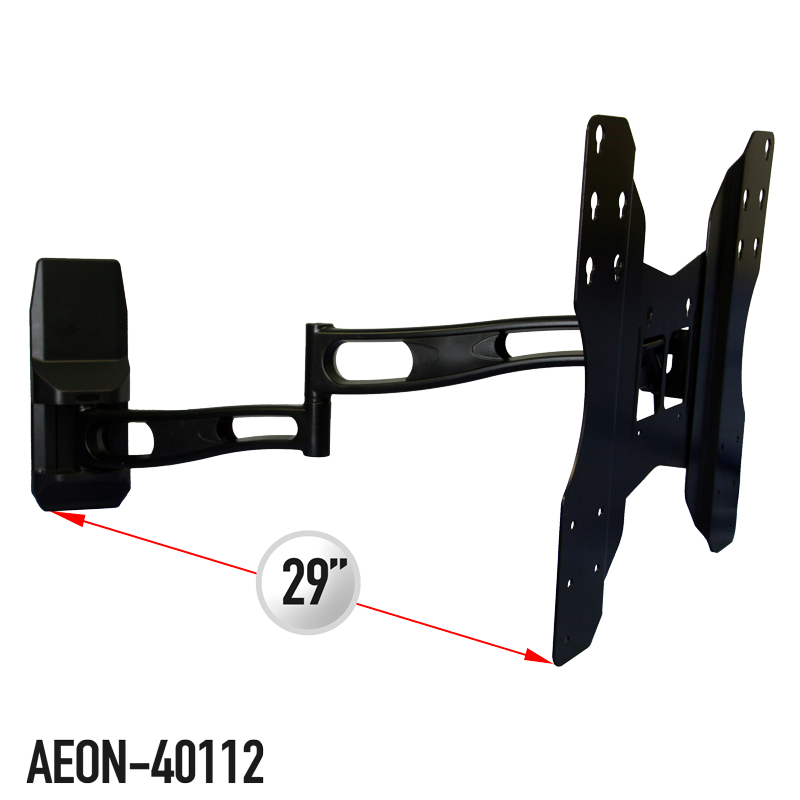 Full Motion Tv Wall Mount With 29 Inch Extension For 32 To 65 Inch