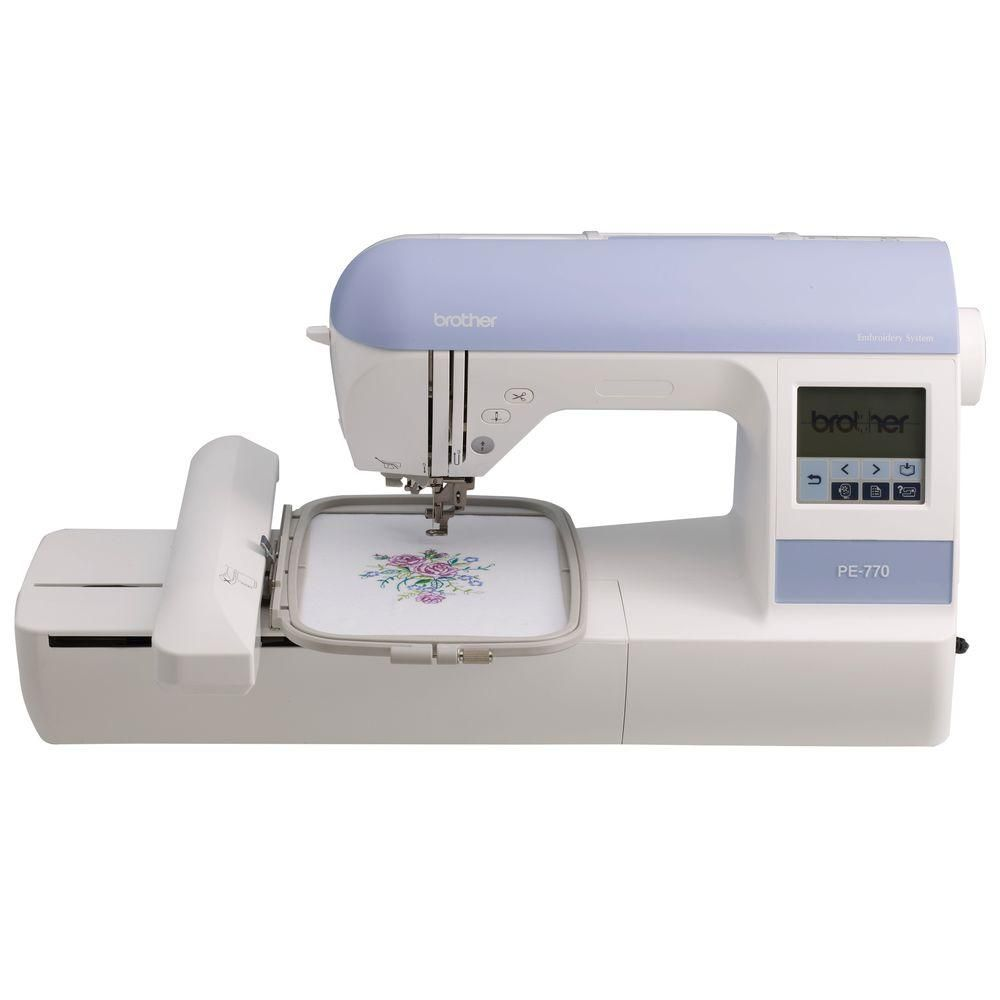 Embroidery Machine With USB Port, White   Embroidery machines ...
