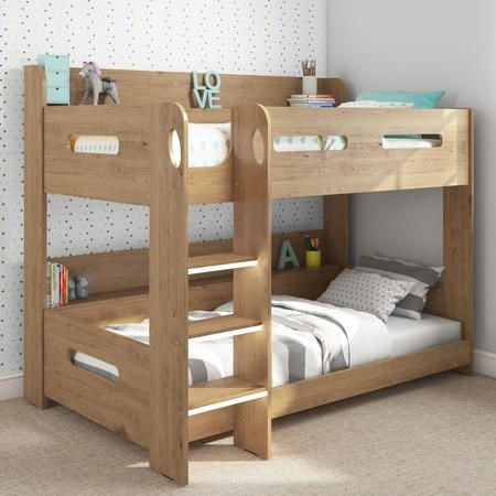 Best Buy Sky Bunk Bed In Oak Ladder Can Be Fitted Either Side 400 x 300