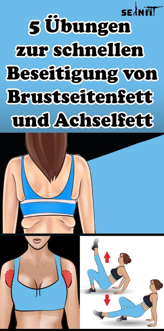 5 Übungen zur schnellen Beseitigung von Brustseitenfett und Achselfett #weighttraining
