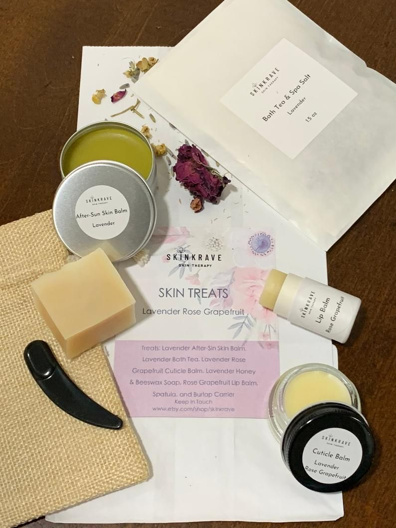 Organic Skin Treats Skin Moisturizers Made With Lavender And Etsy In 2020 Skincare Gift Set Organic Skin Skin Care Gifts