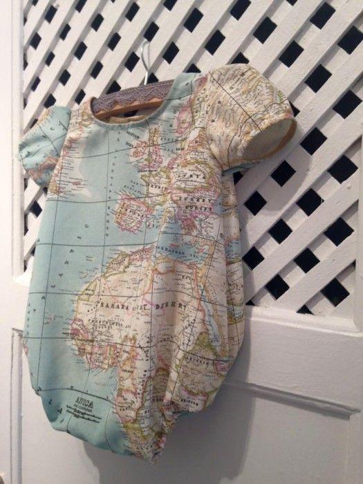 Taller de ropita de bebe II  pelele unisex mapa mundi en MALAGA  (12 03 2016) – Fabric Taller 5e5d20eddf70