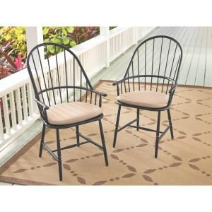 Martha Stewart Living Blue Hill Black Aluminum Outdoor Dining Chairs