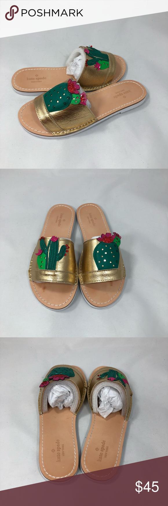 2d632ed3258d Kate spade iguana cactus slides 7.5