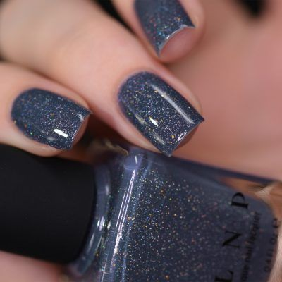 Better Days - Muted Midnight Blue Holographic Nail Polish by ILNP