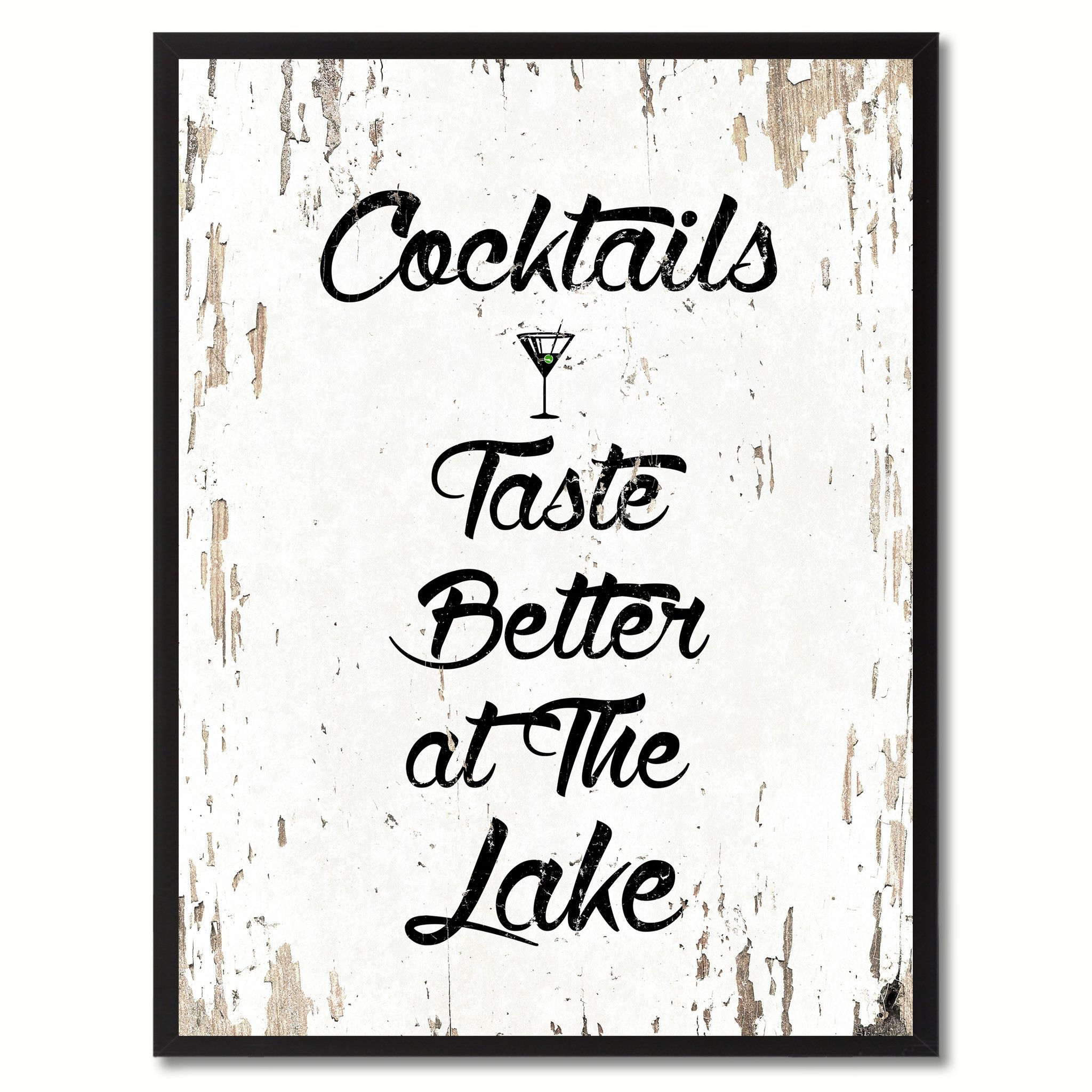 Cocktails Taste Better At The Lake Saying Canvas Print
