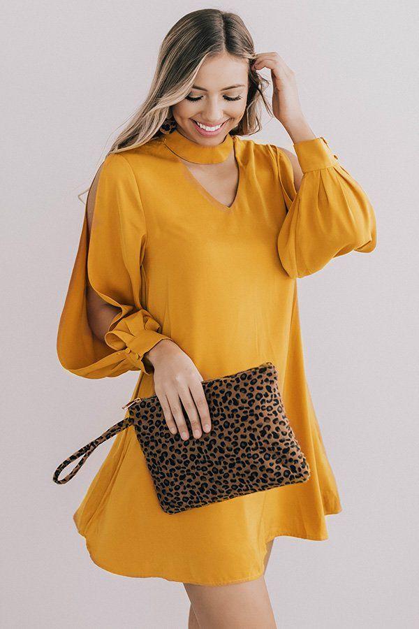 b5c287b26c59 Breckenridge Beauty Shift Dress In Honey- 49 Take in the beauty of the  season in