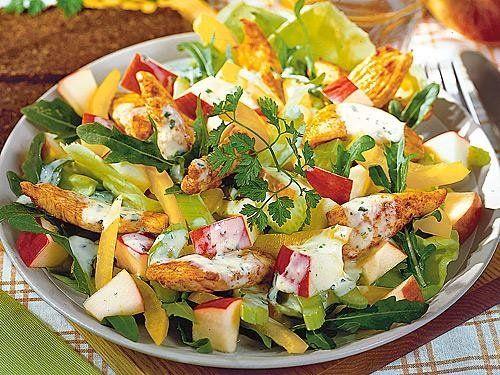 Salate mit hahnchen